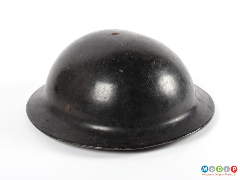 Top view of a helmet showing the rivets.